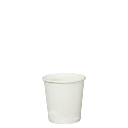 4oz Single Wall White Paper Coffee Cup 60mm Diameter