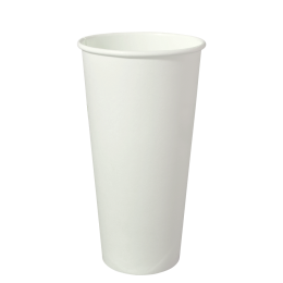22oz Single Wall White Paper Coffee Cup 90mm Diameter