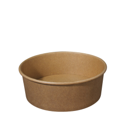 Paper Bowl Brown Kraft 1500ml 185mm Diameter for Hot And Cold Food