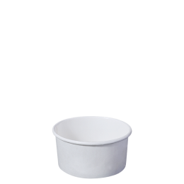 Paper Bowl White Kraft 220ml for Hot and Cold Food