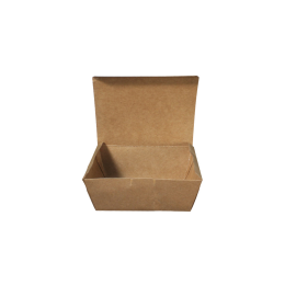 Paper Lunch Box Brown Kraft 1 Compartment 500ml