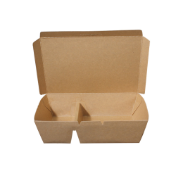 Paper Lunch Box Brown Kraft 2 Compartment 900ml