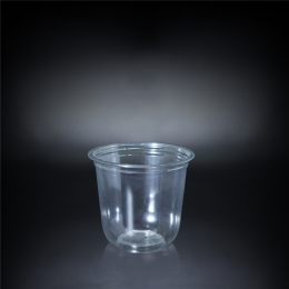 Bubble Tea Clear Plastic Disposable PET Cup 360ml