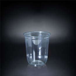 Bubble Tea Clear Plastic Disposable PET Cup 500ml
