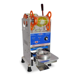 White Manual Cup Sealer Machine for Sealing Bubble Milk Tea with 95mm Diameter