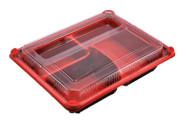 3 Compartment Bento Box with Lid